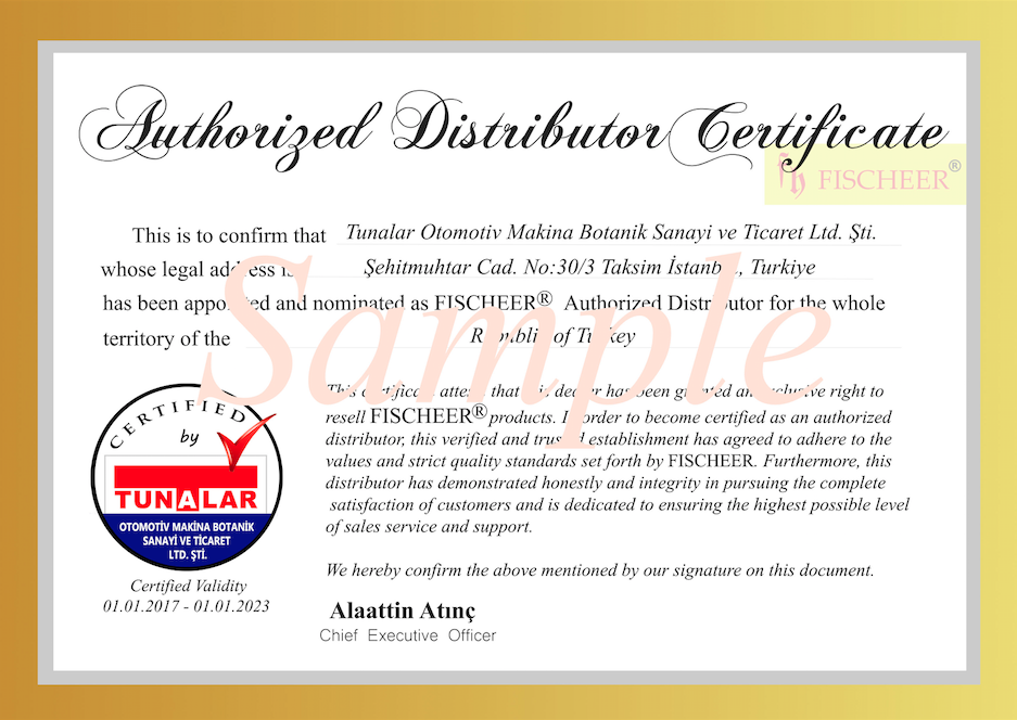 Authorized Distributor Certificate Template